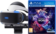 Playstation VR headset Mk4+Kamera+VR Worlds(voucher) (PS4)
