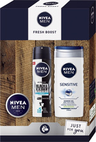 Nivea Men Fresh Boost antiperspirant deodorant sprej 150 ml + sprchový gel 250 ml + krém 30 ml dárko
