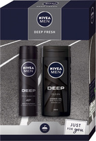Nivea Men Deep Fresh antiperspirant deodorant sprej 150 ml + sprchový gel 250 ml dárková sada