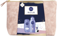 Nivea Smooth Care tělové mléko 400 ml + sprchový gel 250 ml + antiperspirant roll-on 50 ml + etue dá