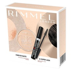 Rimmel London Extra Super Lash řasenka 11ml + Stay mate pudr 14g (dárková sada)