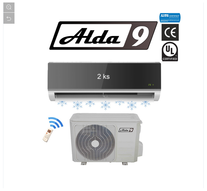 ALDA9 Klimatizace 2in1 MULTISPLIT R410a 5,2kW Glass