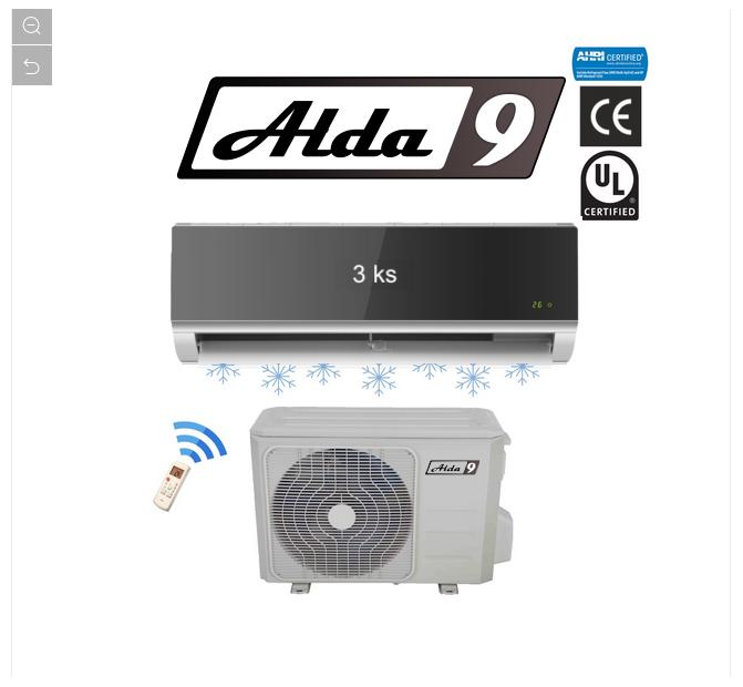 ALDA9 Klimatizace 3in1 MULTISPLIT R410a 10,5kW Glass