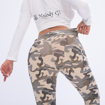 Push-Up legíny Melody, Camo Sand, NP