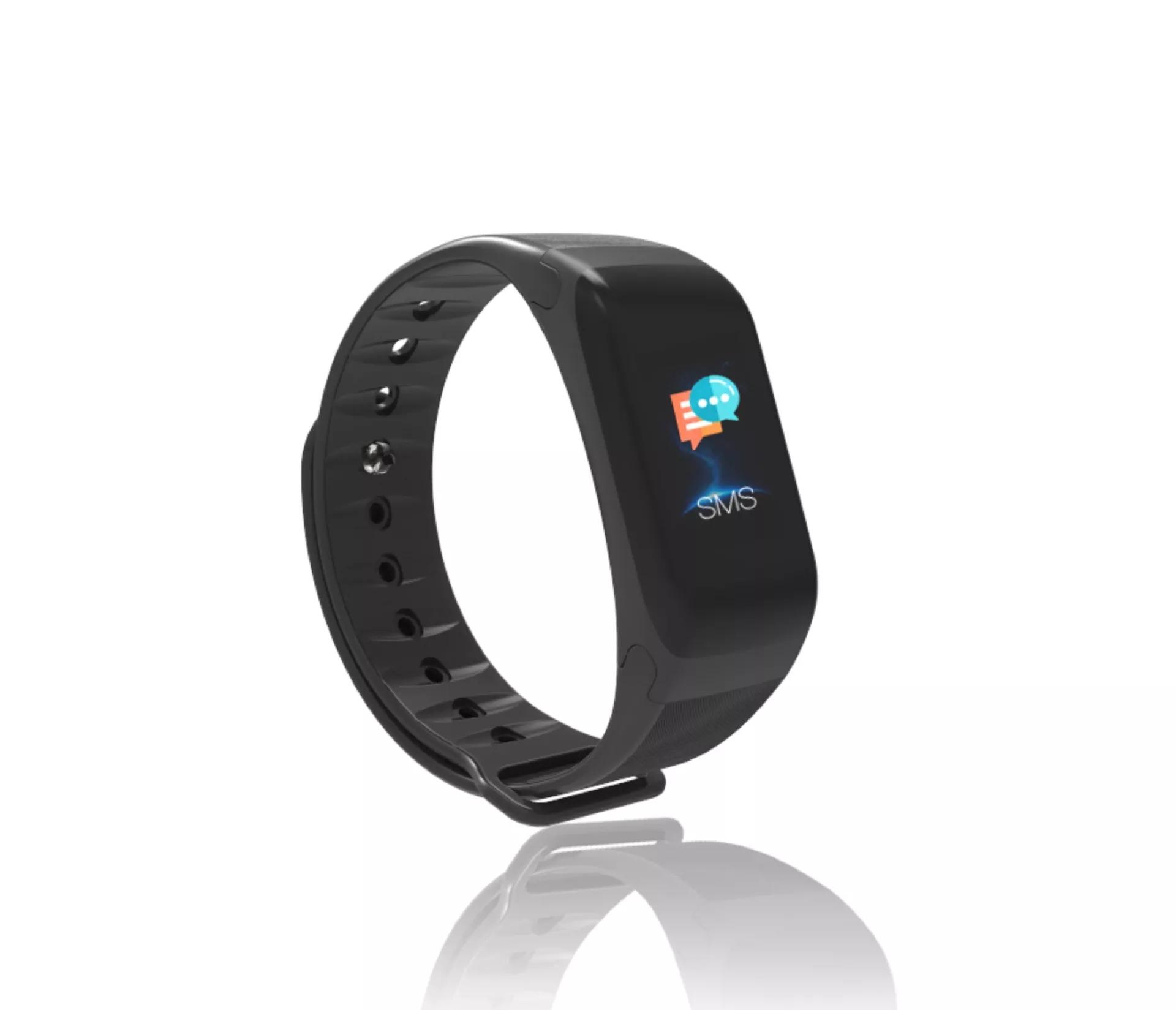 ALDA9 Chytrý náramek - Smart Bracelet C1P Černá