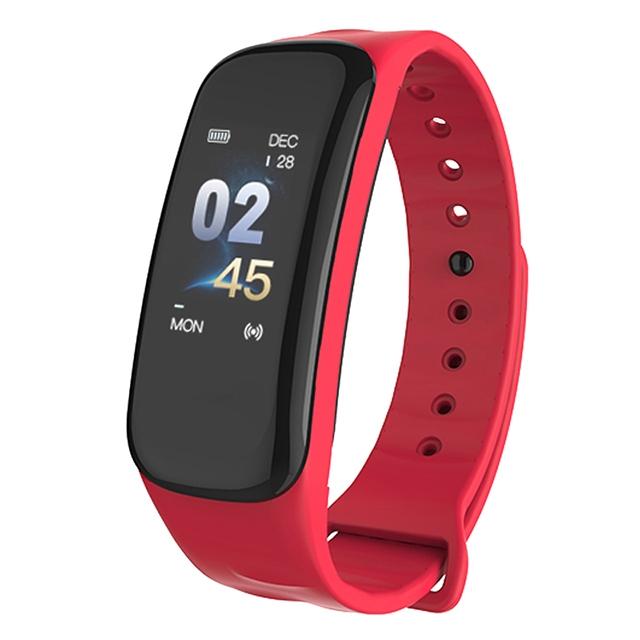 ALDA9 Chytrý náramek - Smart Bracelet C1P Červená
