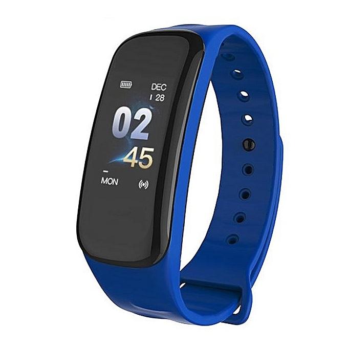 ALDA9 Chytrý náramek - Smart Bracelet C1P Modrá