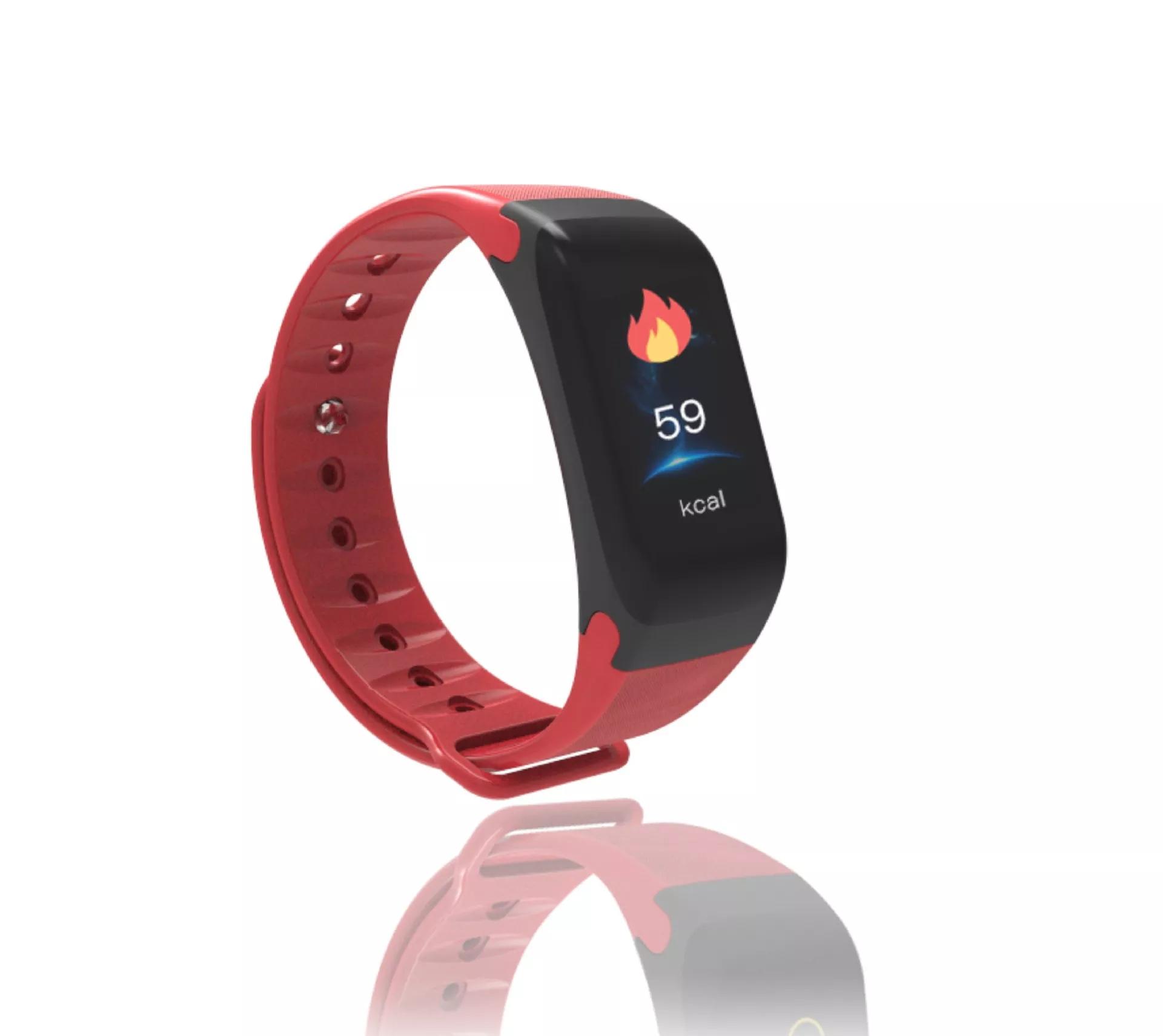 ALDA9 Chytrý náramek - Smart Bracelet F1P Červená