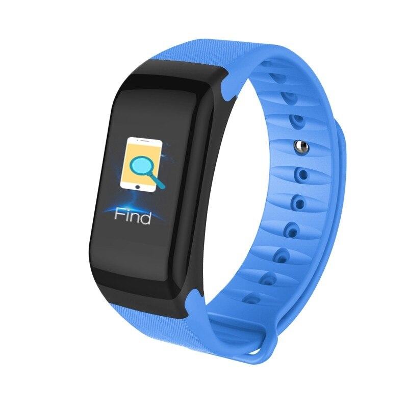 ALDA9 Chytrý náramek - Smart Bracelet F1P Modrá