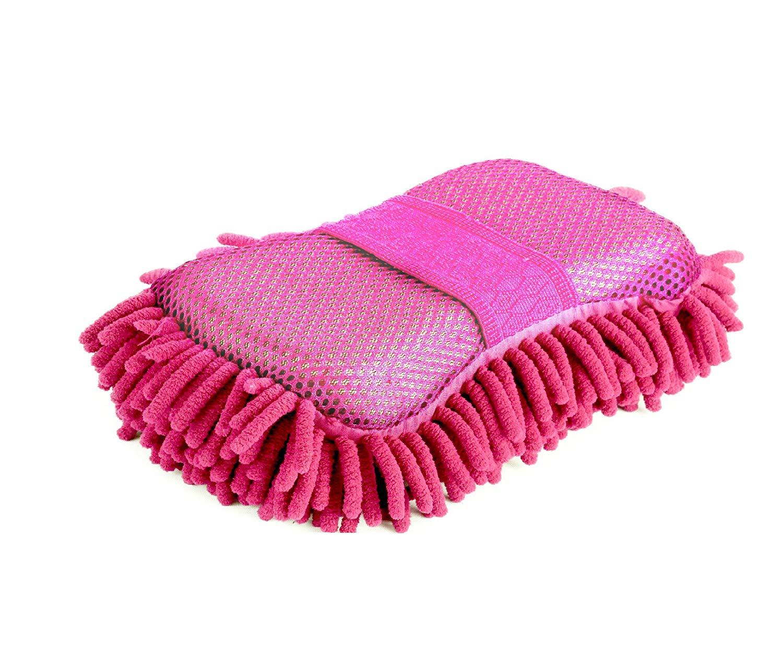 Mycí houba z mikrovlákna 2v1 Surtep 73006 Růžová