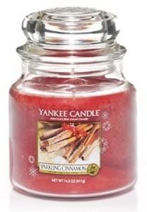Yankee Candle svíčka 411g Spakling Cinnamon